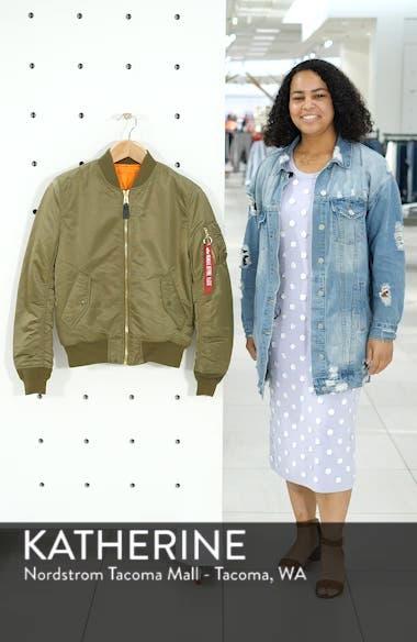 'MA-1' Slim Fit Bomber Jacket, sales video thumbnail