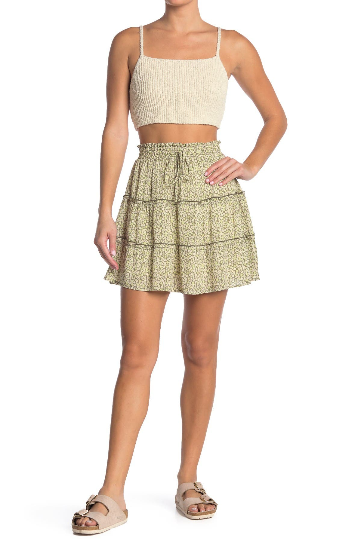 Image of GOOD LUCK GEM Floral Tiered Skirt