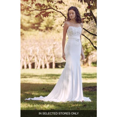 Marchesa Notte Mia Strapless Wedding Dress, Size IN STORE ONLY - Ivory