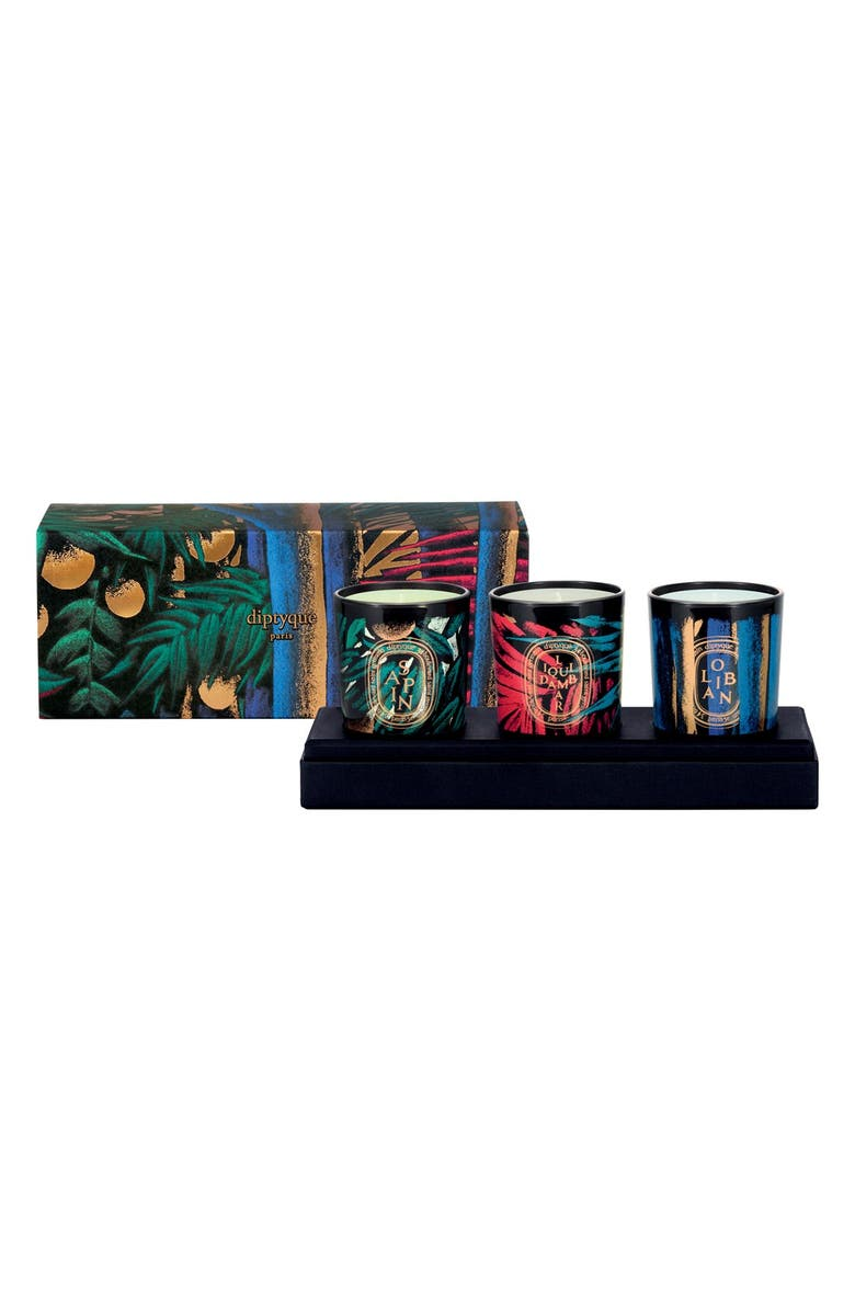 DIPTYQUE Colored Glass Candle Trio, Main, color, 000