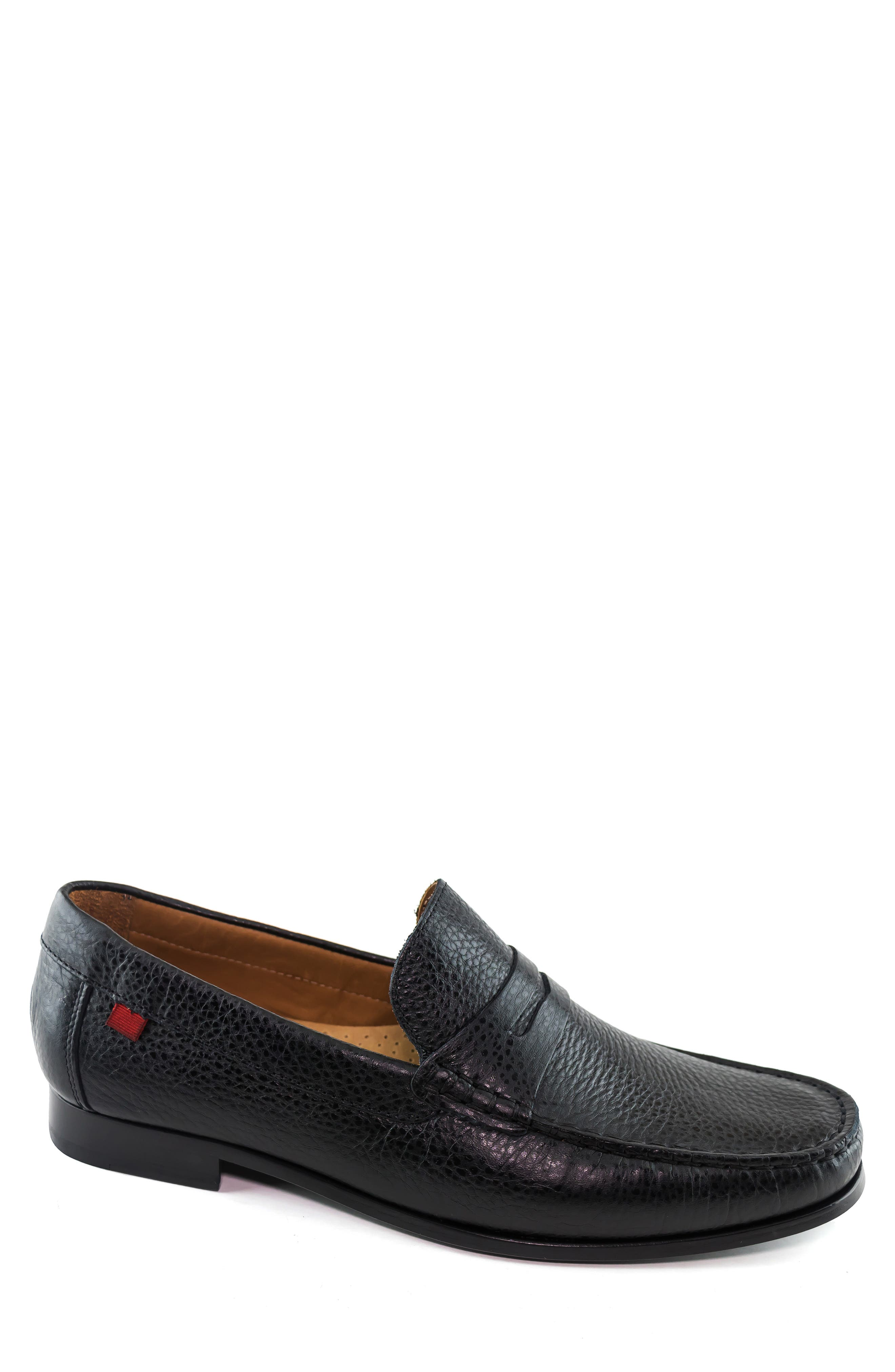 Richly textured nappa calfskin defines a stylish, artisan-made loafer with a flexible sole and smart arch support. Style Name: Marc Joseph New York Windsor Penny Loafer (Men). Style Number: 5829473. Available in stores.