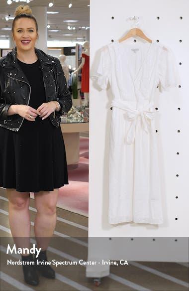 Azariah Eyelet Wrap Dress, sales video thumbnail