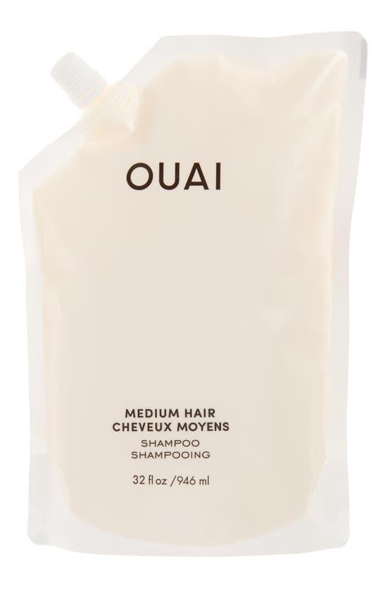 Ouai Medium Hair Shampoo Refill (946ml) In White
