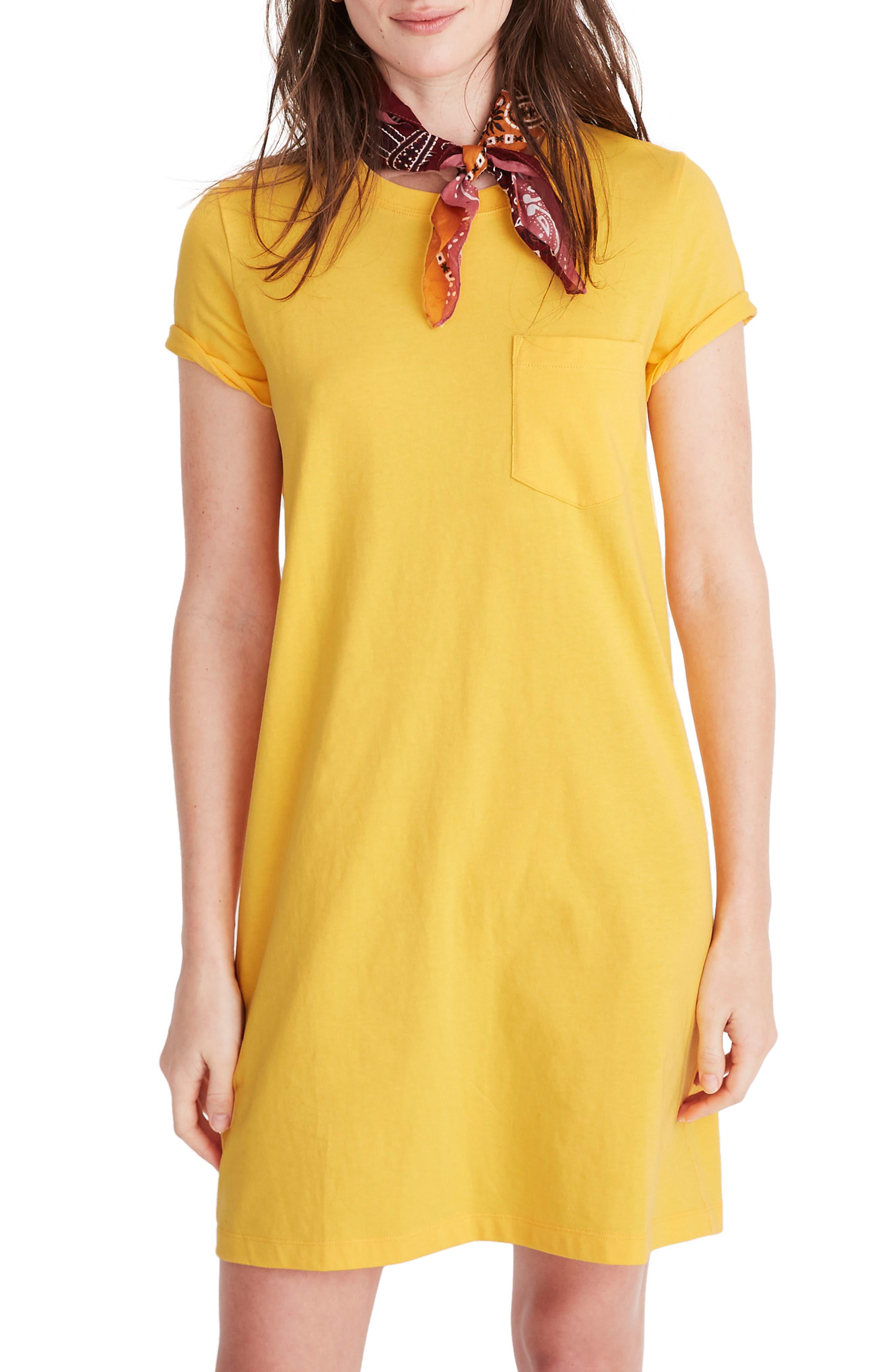Madewell Tee Dress, Yellow