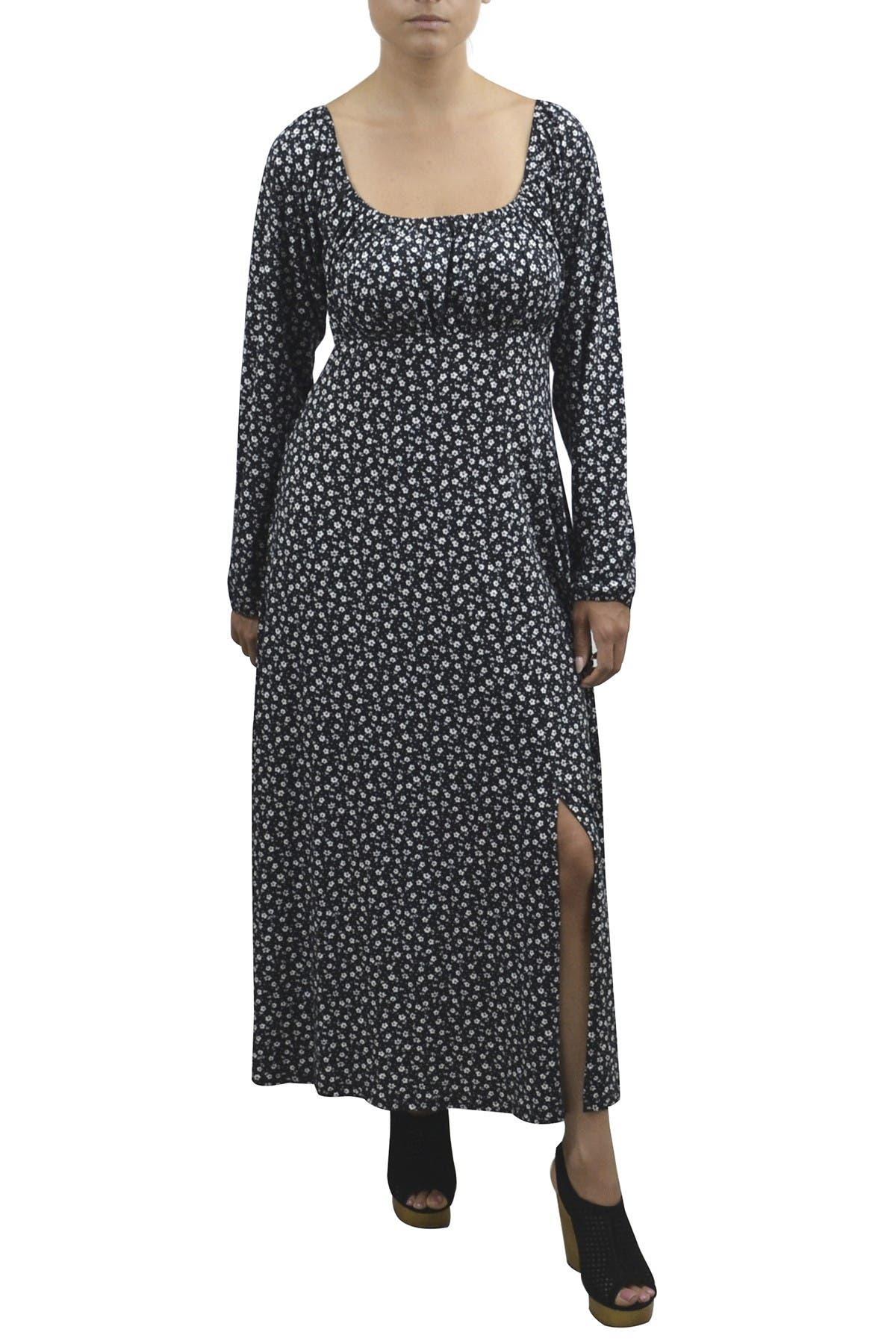 Image of Velvet Torch Off The Shoulder Dot Dress
