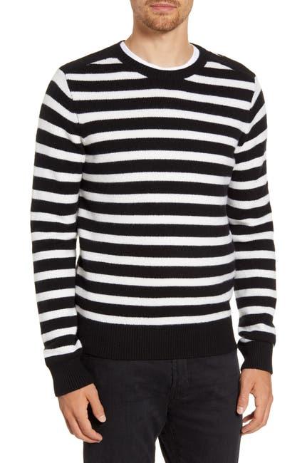 Image of FRAME Stripe Crewneck Wool Blend Sweater