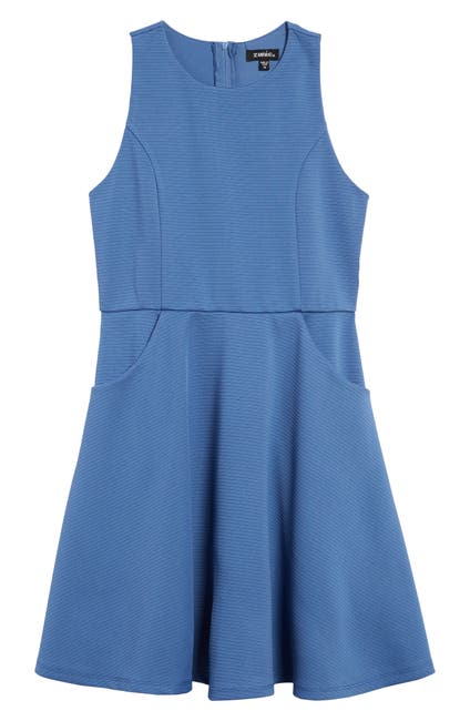 Image of Zunie Sleeveless Pocket Skater Dress
