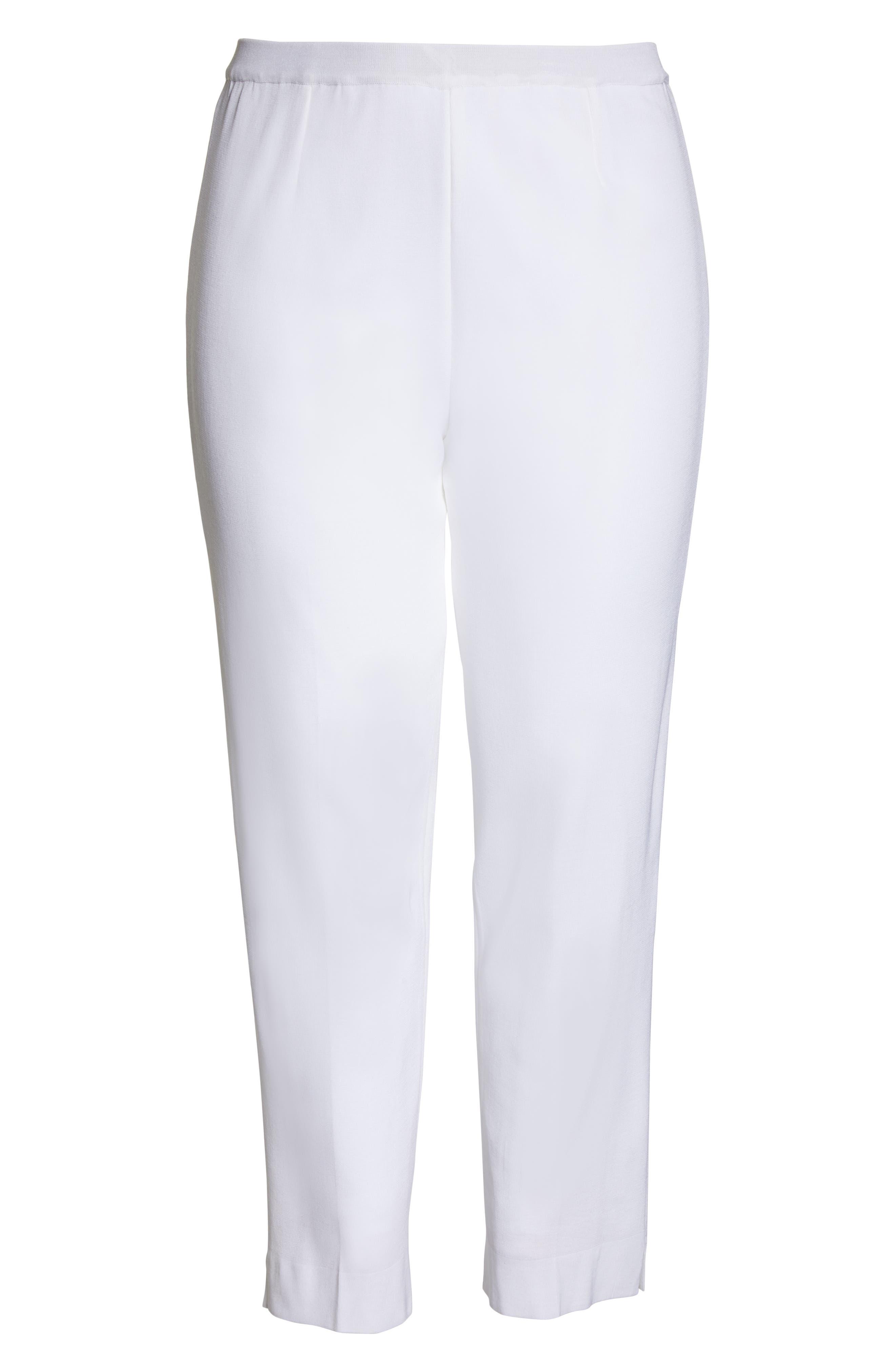 ,                             Knit Ankle Pants,                             Alternate thumbnail 7, color,                             WHITE