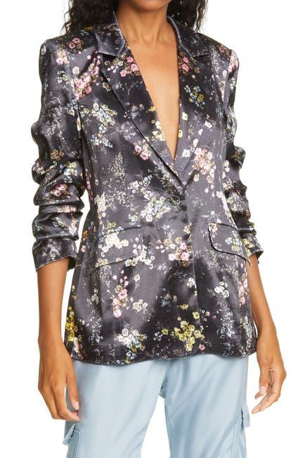 Image of Cinq a Sept Kylie Floral Satin Jacket