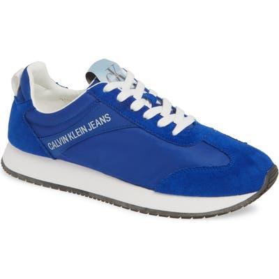 Calvin Klein Jeans Jill Lace-Up Sneaker- Blue