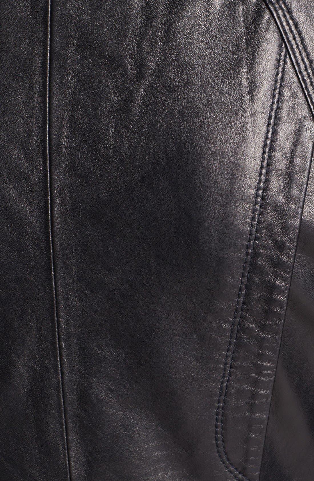 ,                             Leather Moto Jacket,                             Alternate thumbnail 2, color,                             001