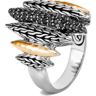 John Hardy Classic Chain Hammered Two-Tone Spear Statement Ring