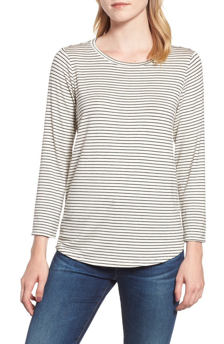 GIBSON x Living in Yellow Alice Stripe Jersey Top, Main, color, 010