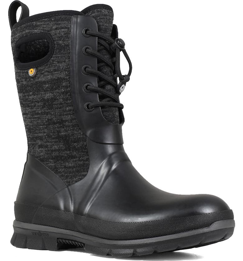 BOGS Crandall Waterproof Boot, Main, color, BLACK MULTI RUBBER