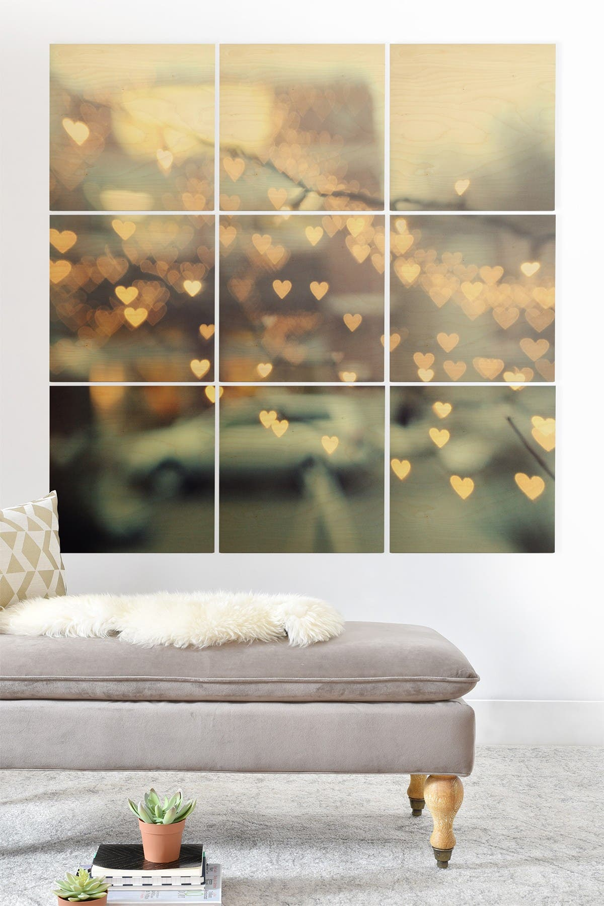 Image of Deny Designs Chelsea Victoria Holding Onto Love Wood Wall Mural