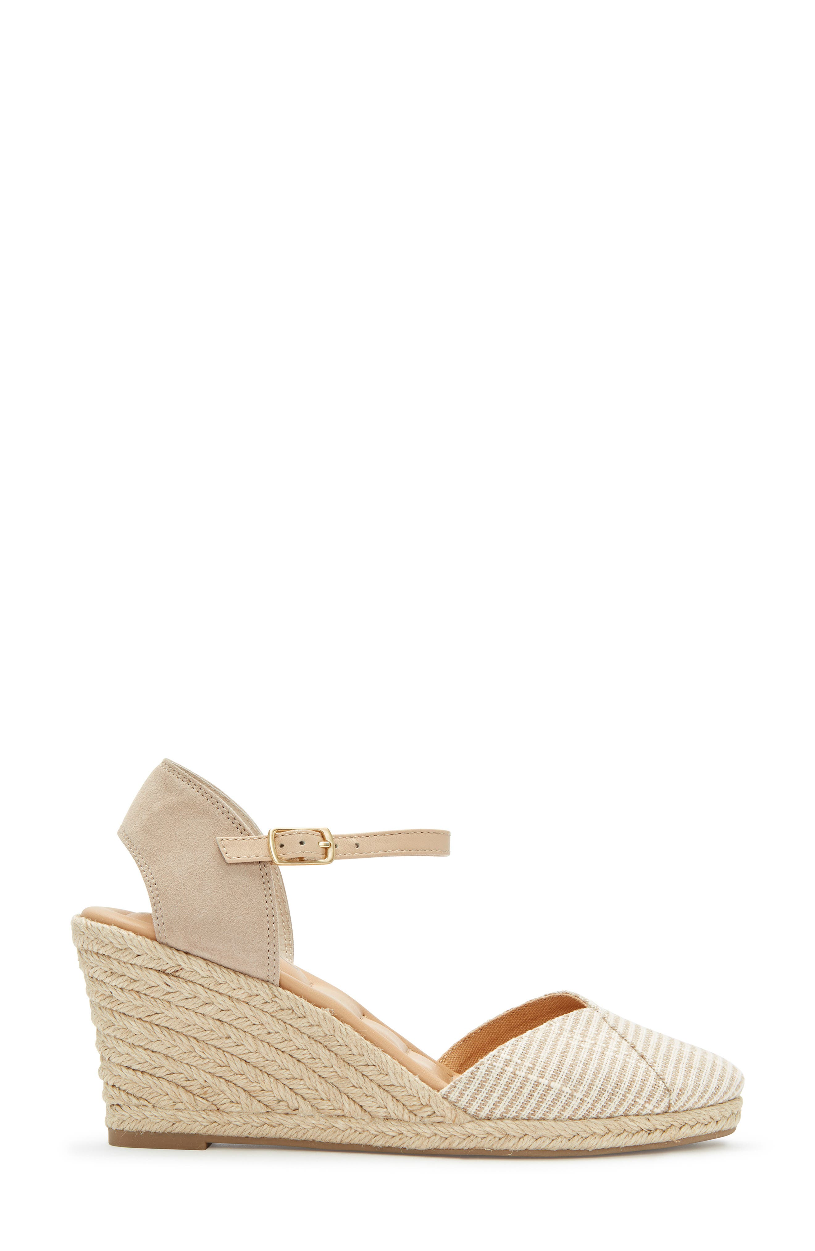 ,                             Brenna Espadrille Wedge Sandal,                             Alternate thumbnail 3, color,                             TAN FABRIC