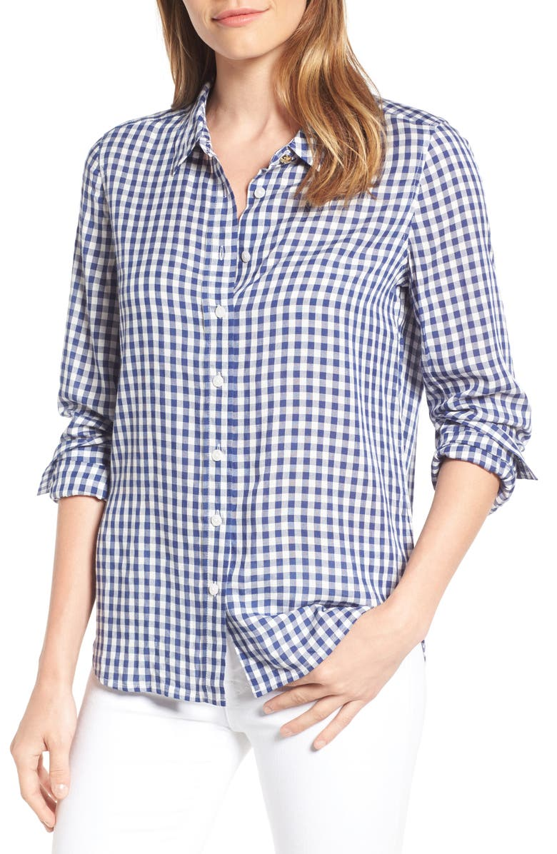 DRAPER JAMES Elliot Gingham Shirt, Main, color, 414