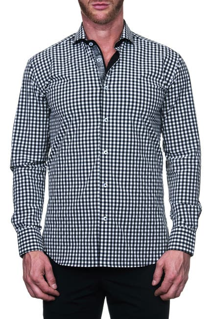 Image of Maceoo Einstein Gingham Shaped Fit Shirt
