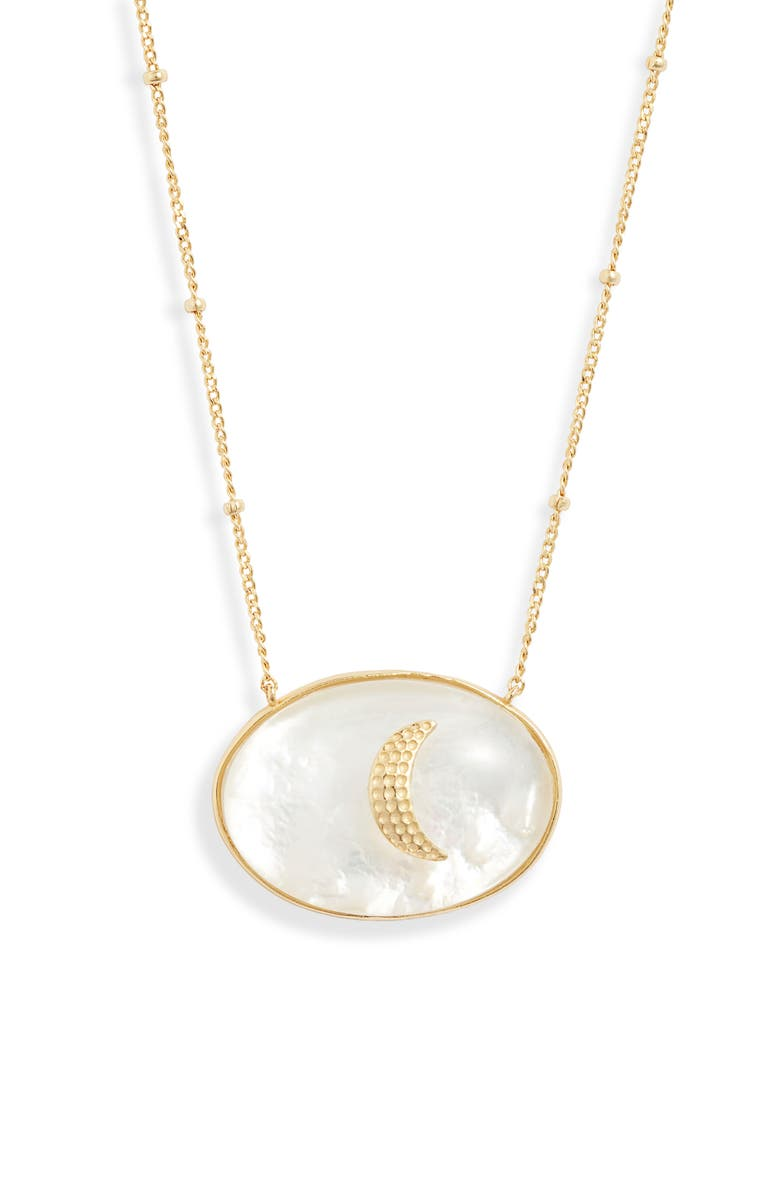 ARGENTO VIVO Celestia Mother-of-Pearl Pendant Necklace, Main, color, GOLD