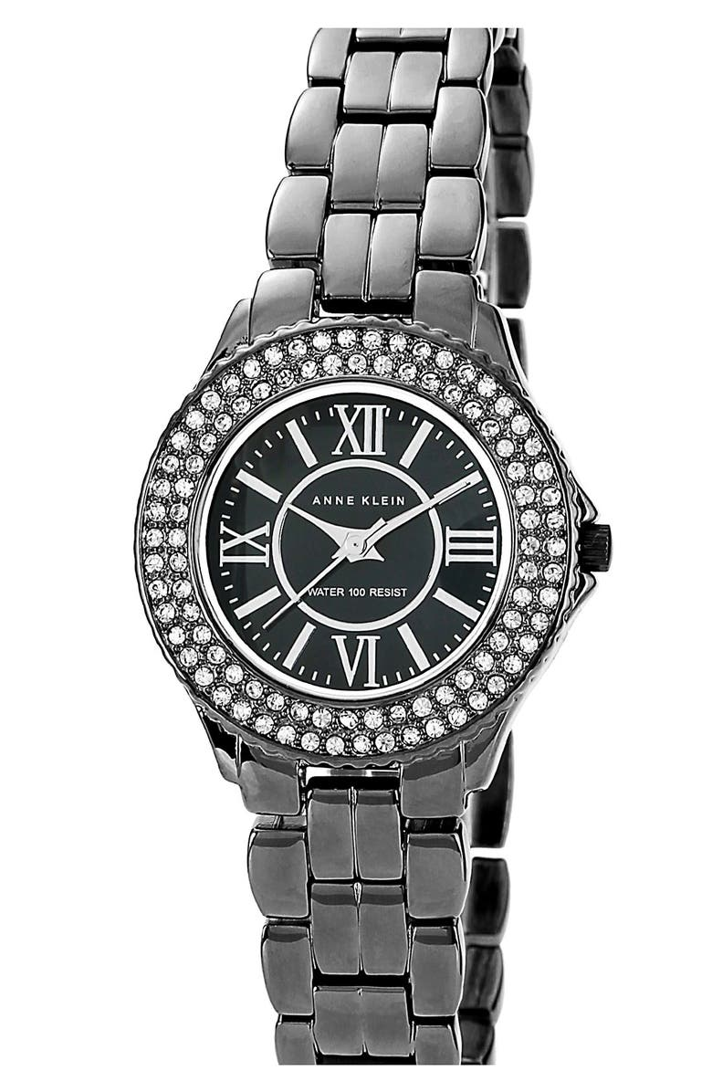 ANNE KLEIN Crystal Bezel Bracelet Watch, Main, color, 020