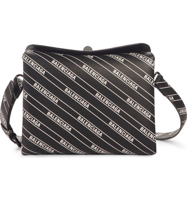 a12323ceec8 Balenciaga Logo Calfskin Leather Crossbody Bag | Nordstrom
