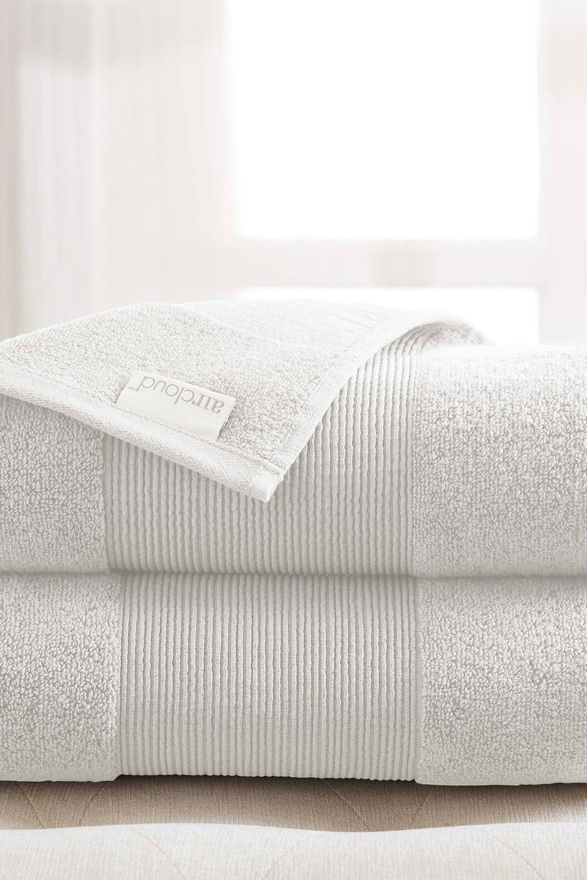 Image of Modern Threads Air Cloud Oversized Bath Sheet - Set of 2 - White