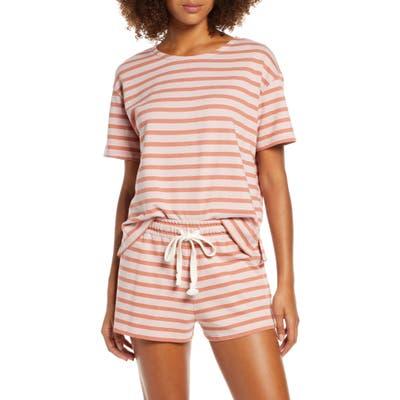 Madewell Short Sleeve Pajama Sweatshirt, Burgundy