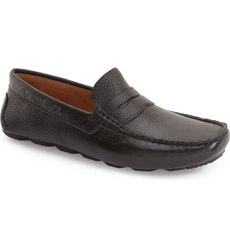 1901 Bermuda Penny Loafer, Main, color, BLACK LEATHER