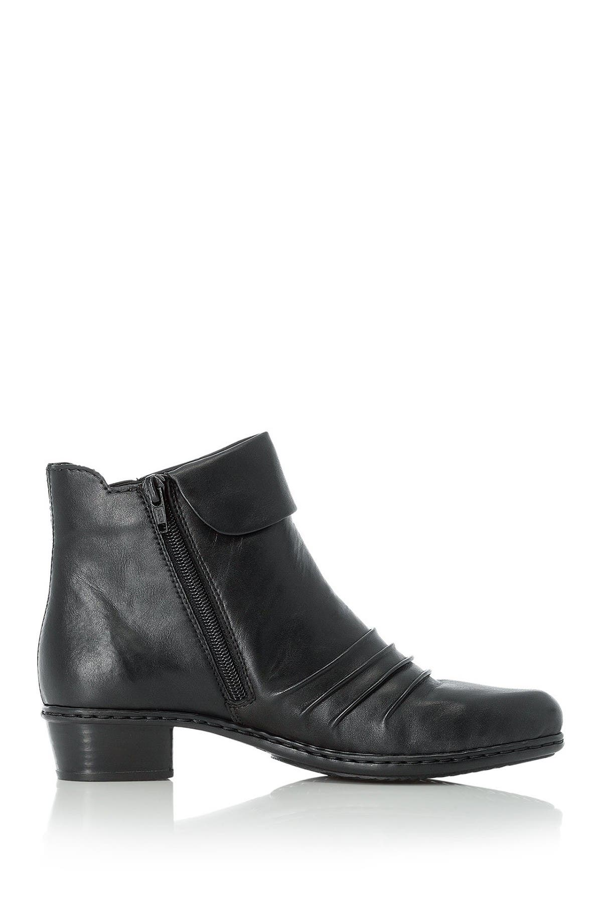 Image of Rieker Fabiola Leather Block Boot