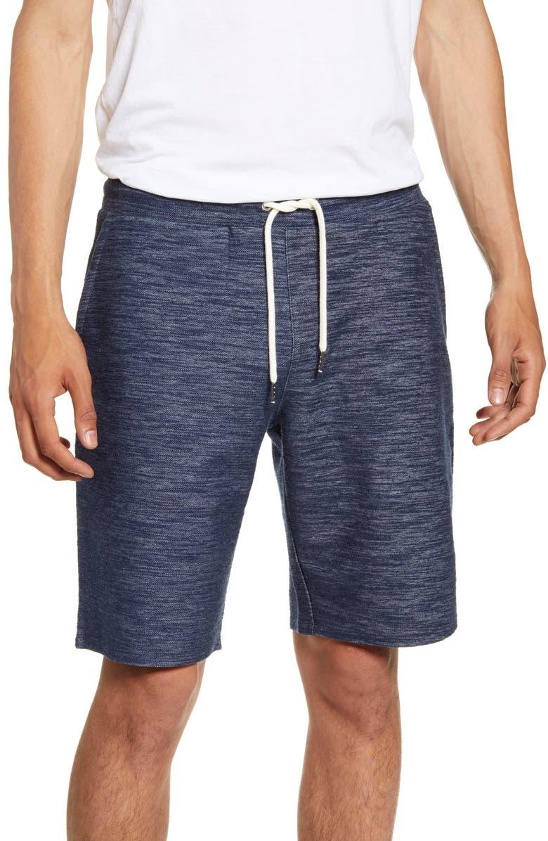 BP. Drawstring Slub Knit Shorts, Main, color, NAVY SLUB