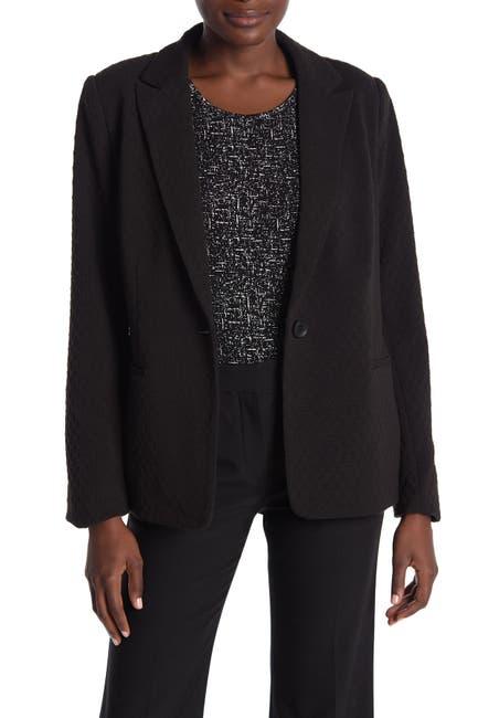 Image of Philosophy Apparel Notch Collar Ponte Blazer Jacket