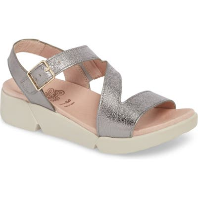 Wonders Platform Wedge Sandal, Grey