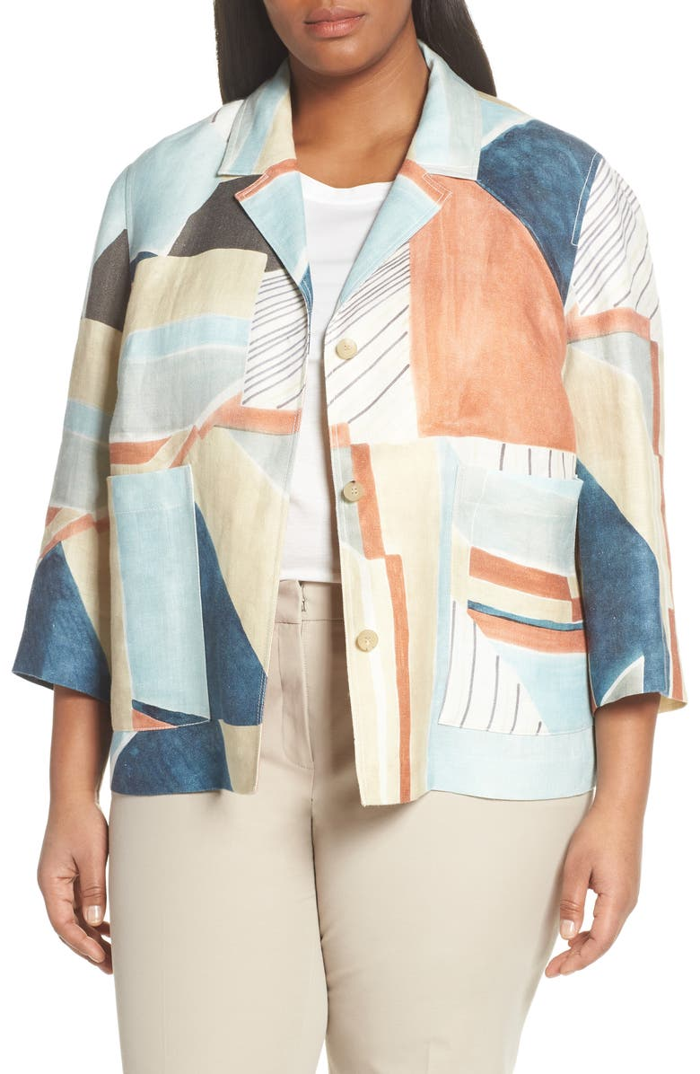 LAFAYETTE 148 NEW YORK Layken Linen Jacket, Main, color, 400