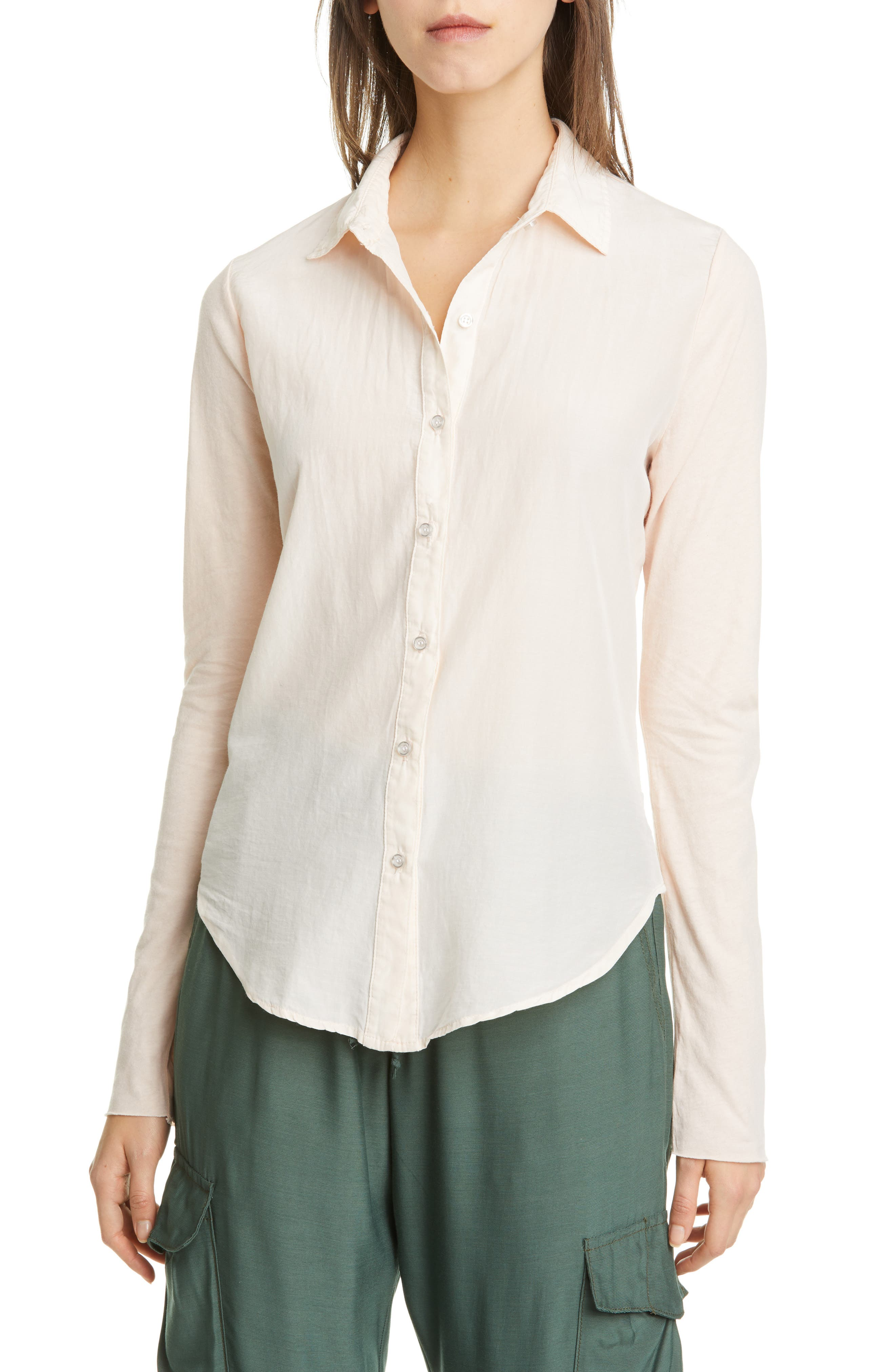 Image of NSF CLOTHING Estel Contrast Panel Shirt