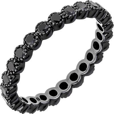 Sethi Couture Black Diamond Bezel Band Ring