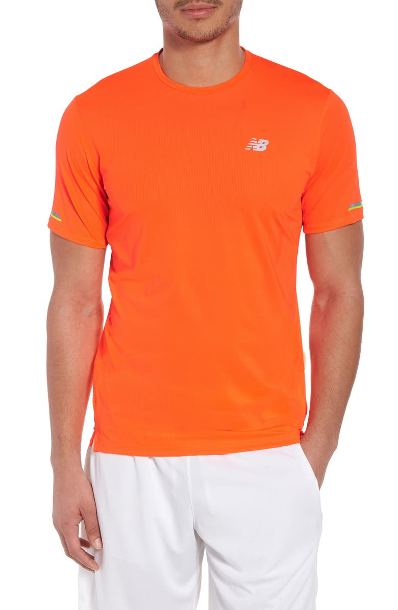 NEW BALANCE ICE 2.0 Crewneck T-Shirt, Main, color, DYNOMITE