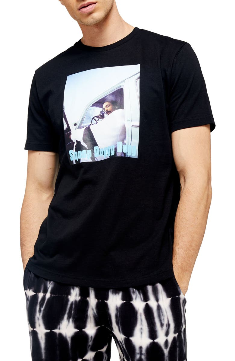 TOPMAN Classic Fit Snoop Dogg T-Shirt, Main, color, BLACK MULTI