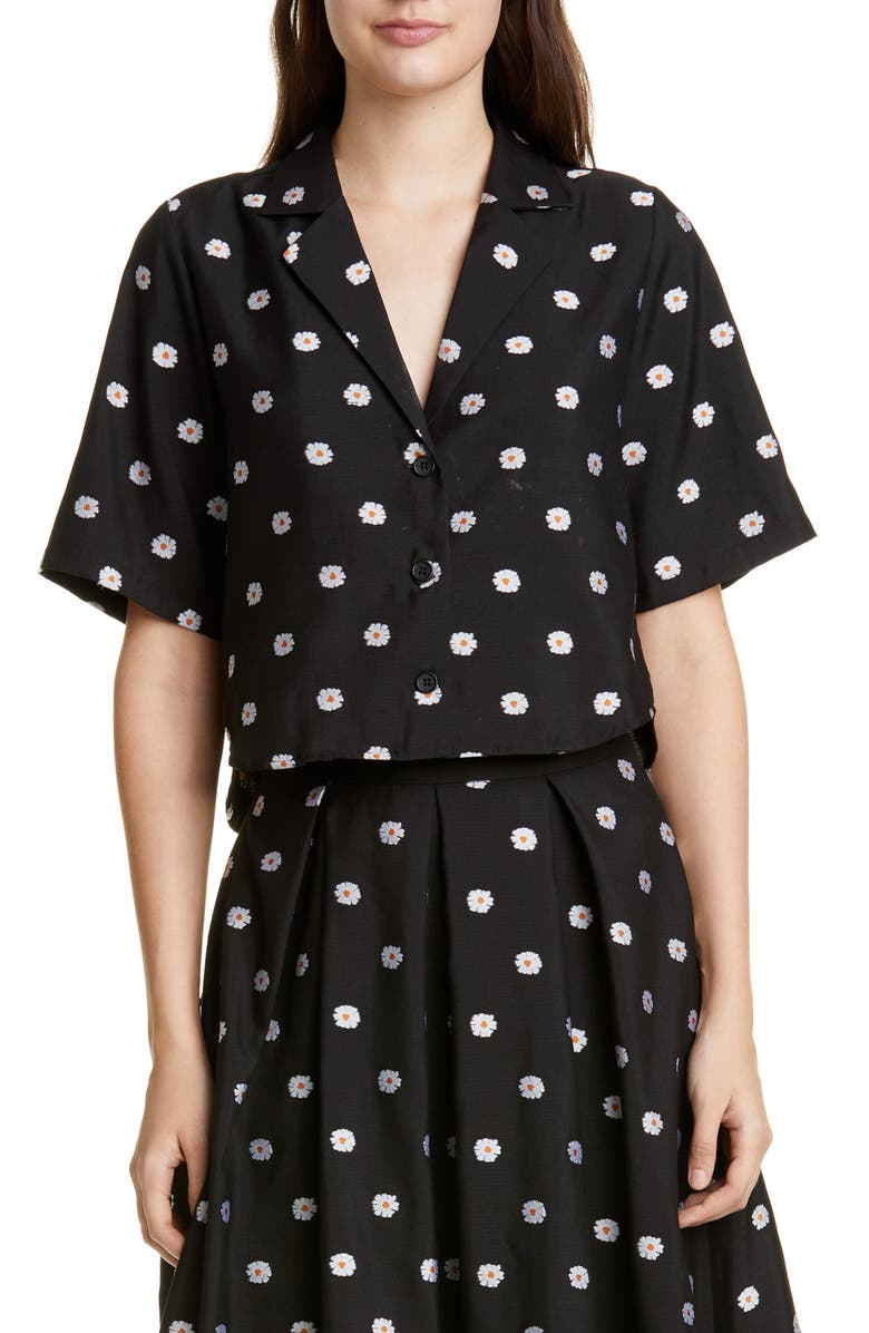 STINE GOYA Athena Daisy Crop Shirt, Main, color, DAISY