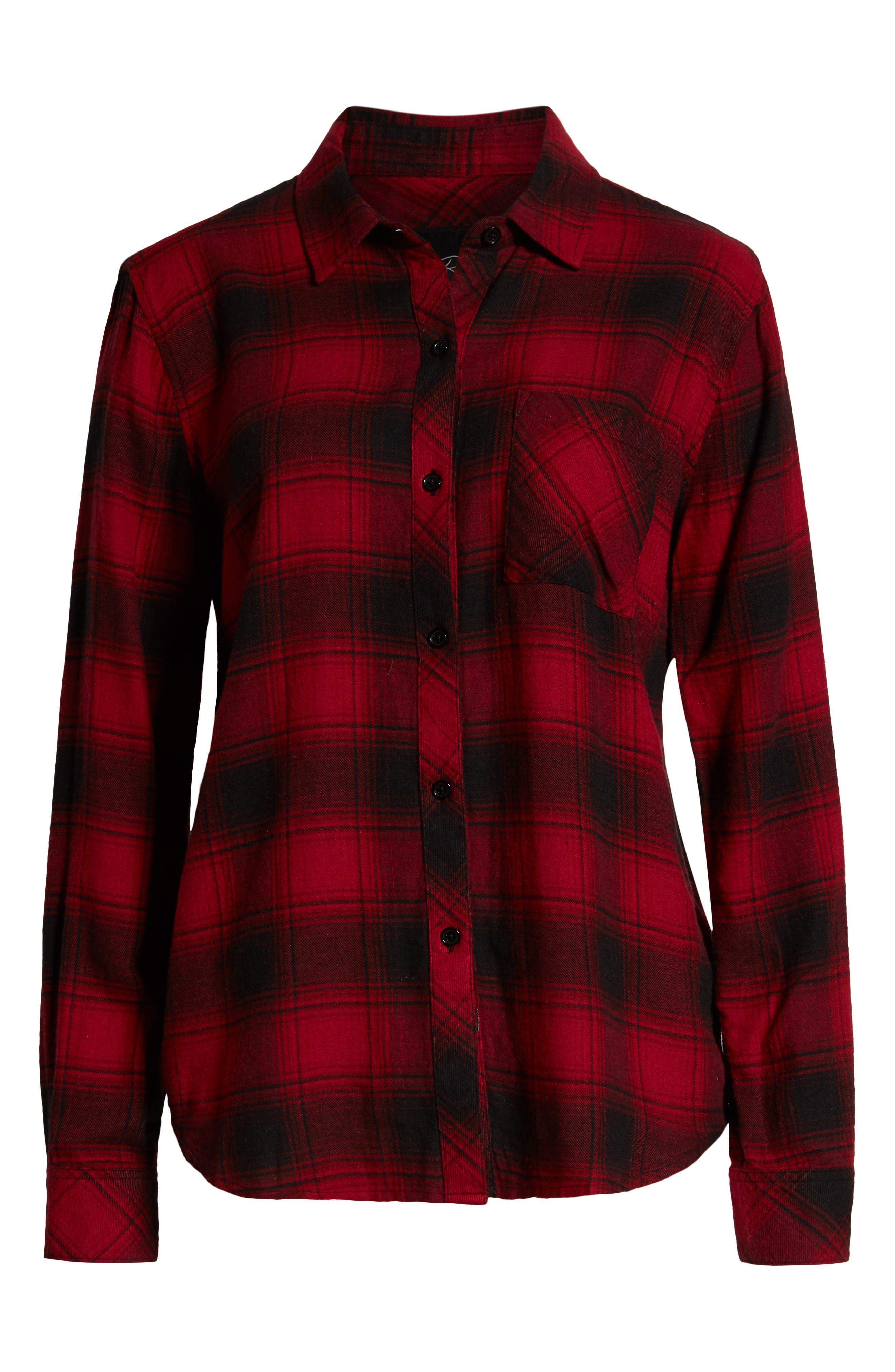 ,                             Hunter Plaid Shirt,                             Alternate thumbnail 222, color,                             011
