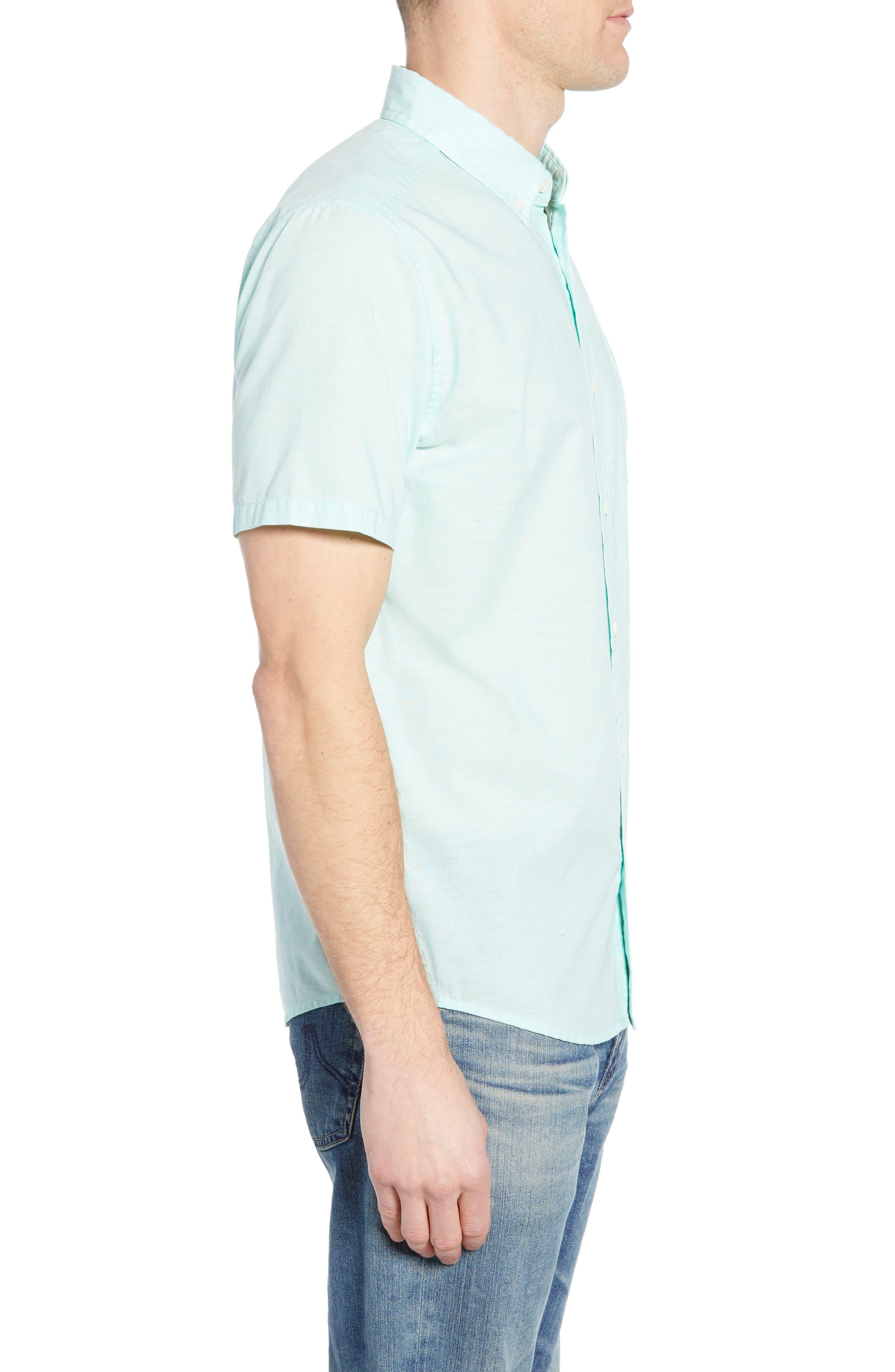 ,                             Bluffside Regular Fit Shirt,                             Alternate thumbnail 4, color,                             CHAMBRAY VJOSA GREEN