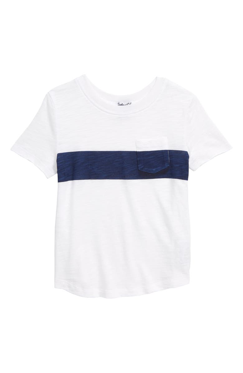 SPLENDID Stripe Print T-Shirt, Main, color, 400
