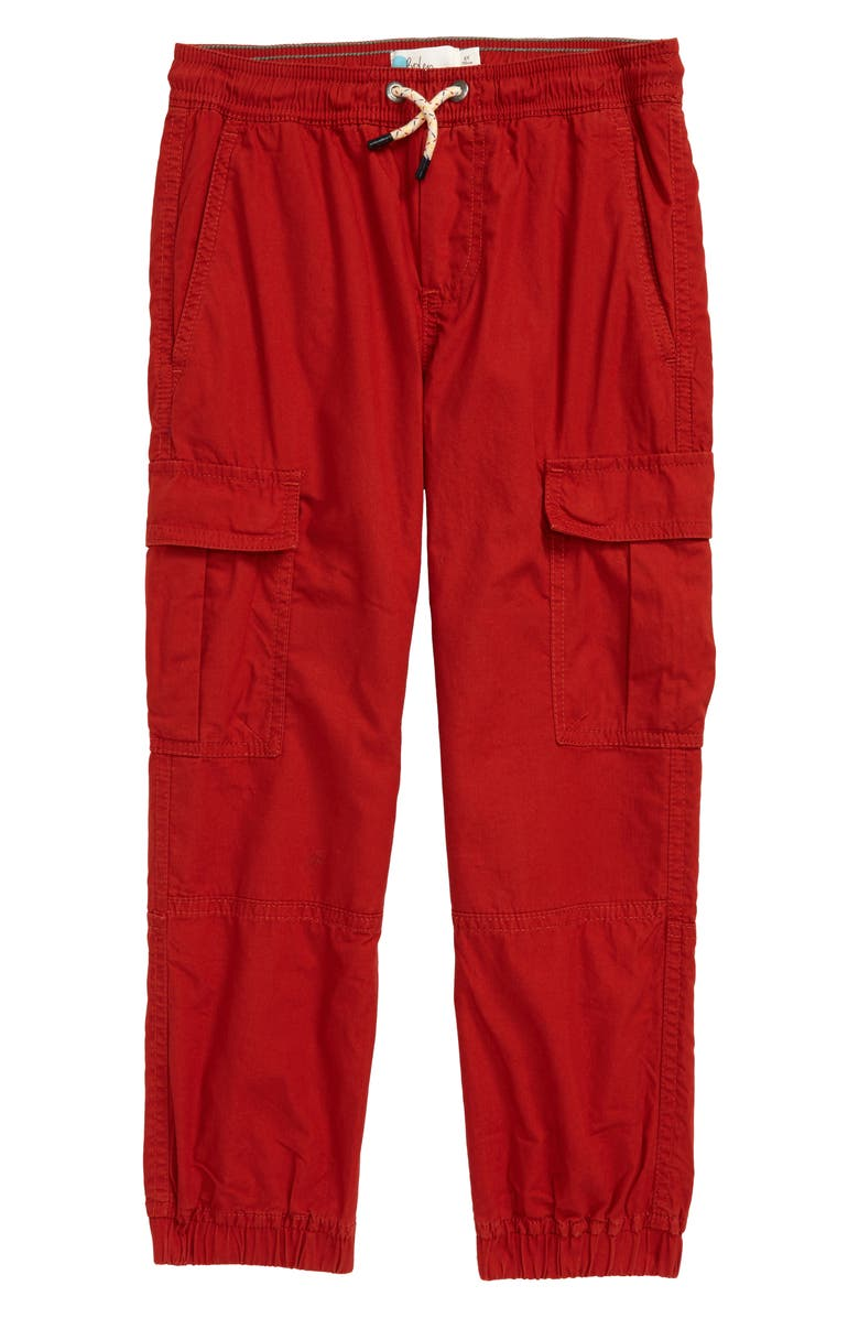 MINI BODEN Camo Utility Cargo Trousers, Main, color, RED SPARK