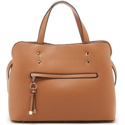 Sole Society Deana Faux Leather Satchel - Brown