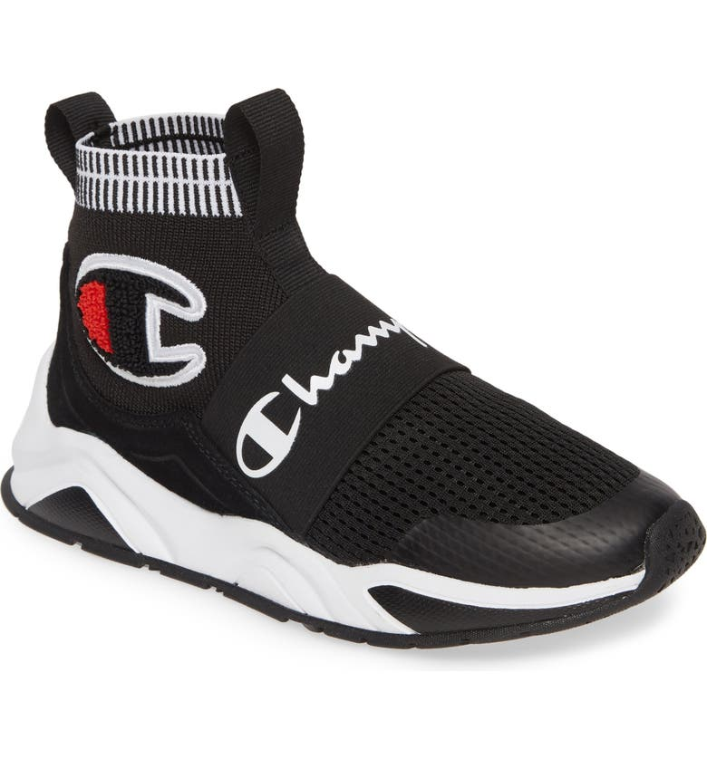 CHAMPION Rally Pro High Top Sock Sneaker, Main, color, 001