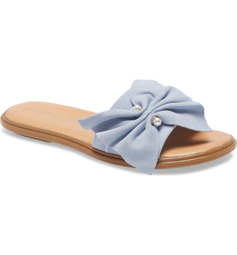 BCBGENERATION Eleni Slide Sandal, Main, color, SKYWAY SUEDE