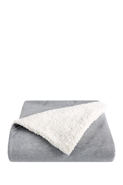 """Image of SPLENDID HOME DECOR Faux Shearling Lined Jersey Throw Blanket - 50"""" x 70"""""""