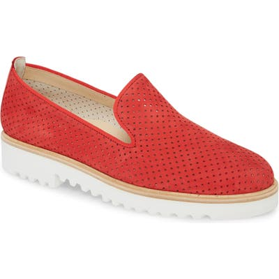 Paul Green Cailey Perforated Loafer, US/ 2.5UK - Red