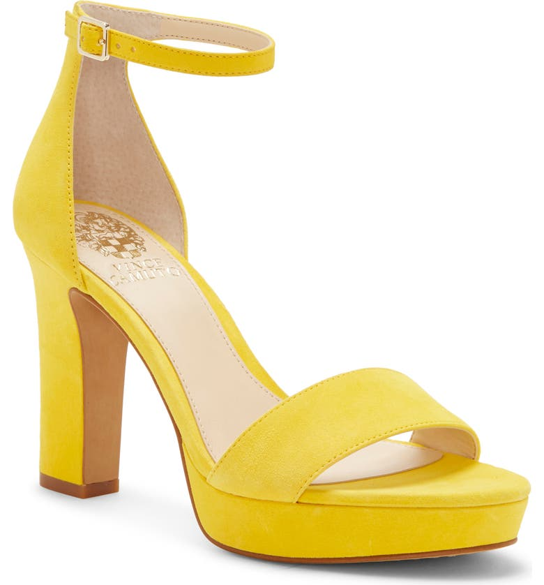 VINCE CAMUTO Sathina Sandal, Main, color, DAISY YELLOW SUEDE