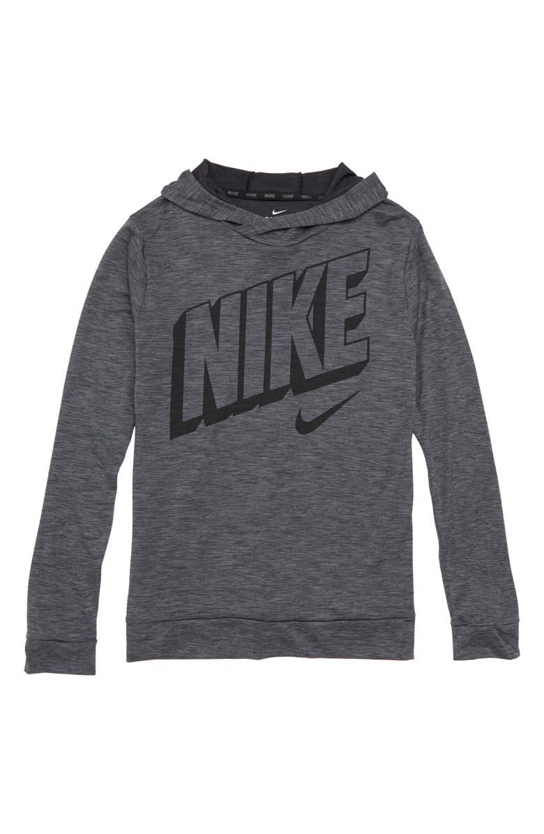 bc78fca4 Nike Breathe Long Sleeve Dry Pullover Hoodie (Little Boys & Big Boys ...