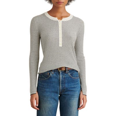 Alex Mill Wool Blend Henley Sweater, Ivory